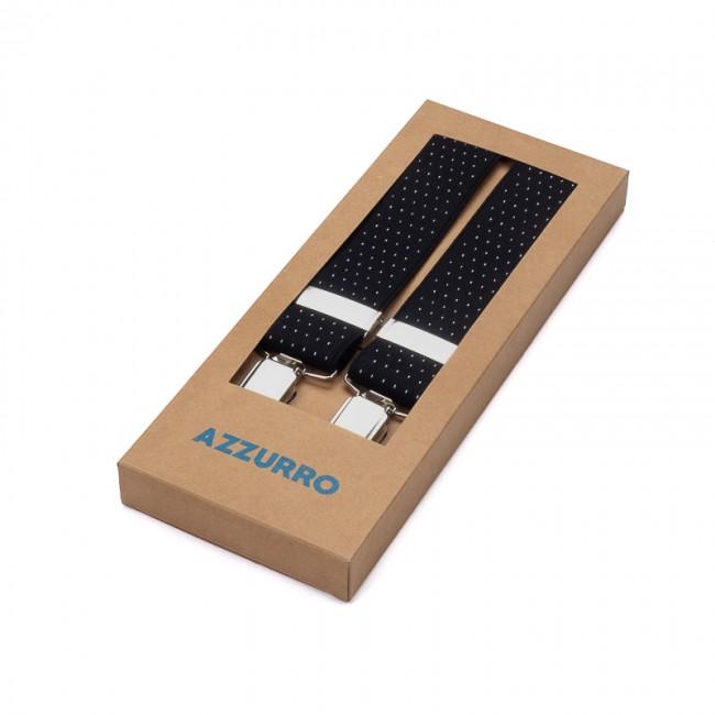 Bretels zwart wit stip 0044| GENTS.nl | Hoogste kwaliteit voor de laagste prijs