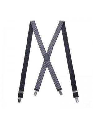 Bretels zwart patroon grijswit 0075| GENTS.nl | Hoogste kwaliteit voor de laagste prijs