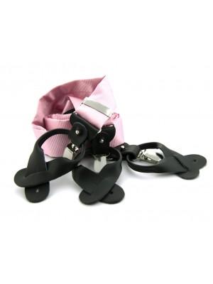 Bretels zijde roze 0086