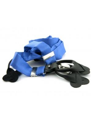 Bretels zijde midden blauw 0088