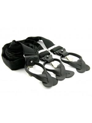 Bretels zijde zwart 0089