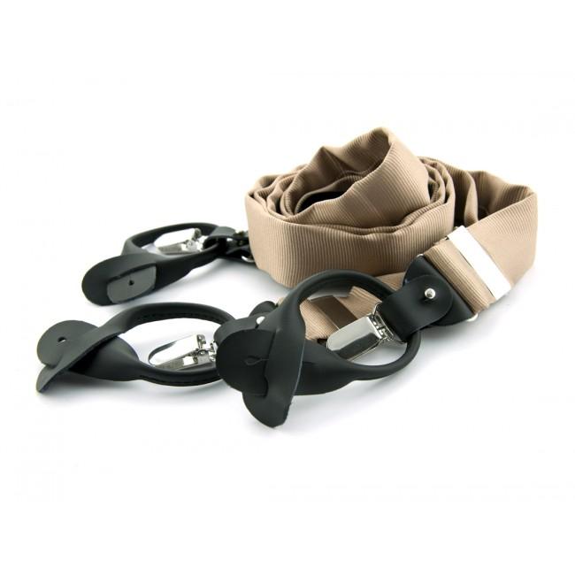 Bretels zijde khaki 0096| GENTS.nl | Hoogste kwaliteit voor de laagste prijs