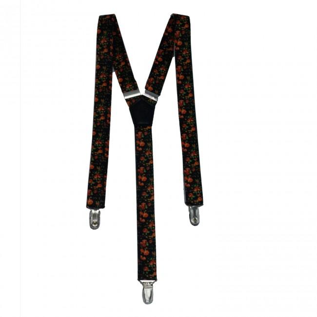 Bretels gebloemd zwart 0103| GENTS.nl | Hoogste kwaliteit voor de laagste prijs