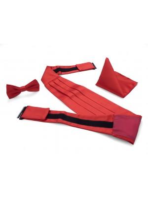 Cumberbandenset rood 0015