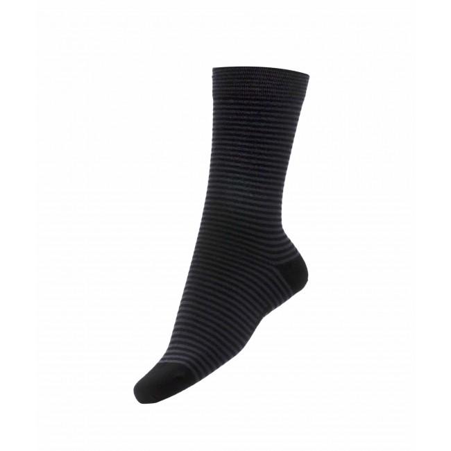 Sokken zwartgrijs streep 0009| GENTS.nl | Hoogste kwaliteit voor de laagste prijs