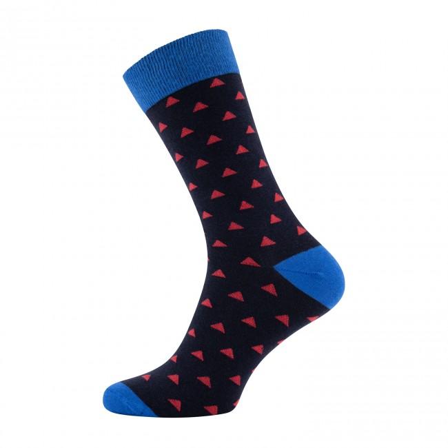 Sokken blauw print driehoek 0024| GENTS.nl | Hoogste kwaliteit voor de laagste prijs