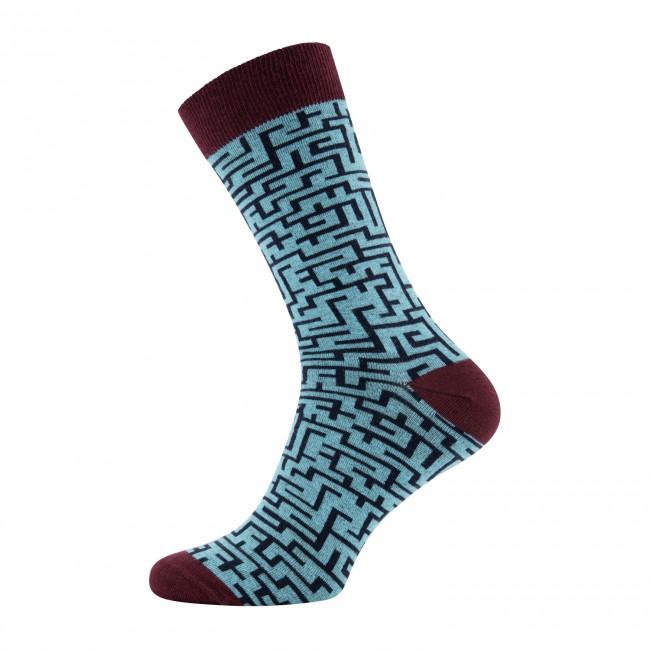 Sokken doolhof blauw 0040| GENTS.nl | Hoogste kwaliteit voor de laagste prijs