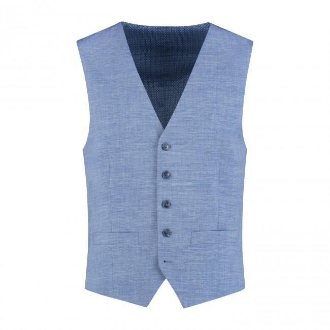 Gilet linnenlook lichtblauw 0029| GENTS.nl | Hoogste kwaliteit voor de laagste prijs