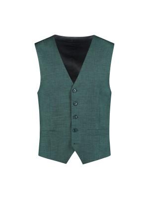 Gilet linnenlook groen 0030| GENTS.nl | Hoogste kwaliteit voor de laagste prijs