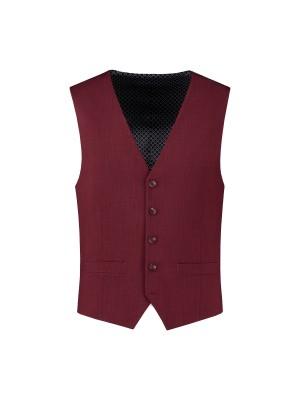 Gilet linnenlook rood 0031| GENTS.nl | Hoogste kwaliteit voor de laagste prijs