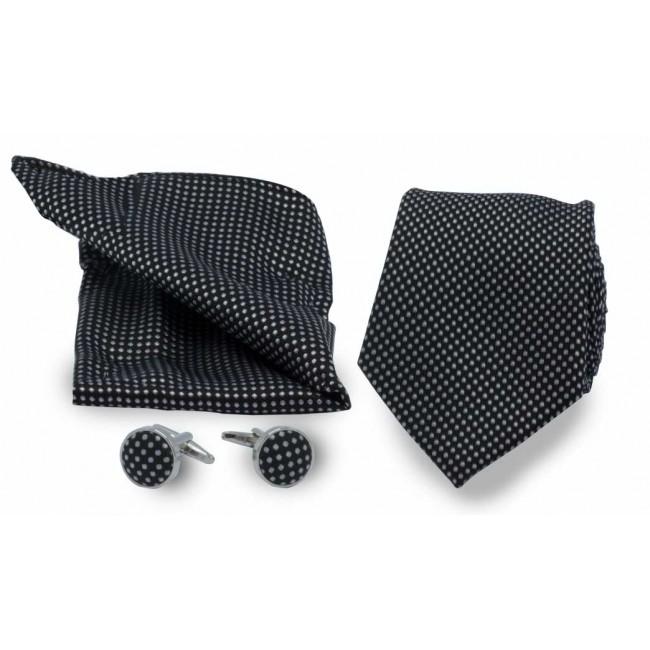 Set stropd manch poch zwart met stip 0008| GENTS.nl | Hoogste kwaliteit voor de laagste prijs