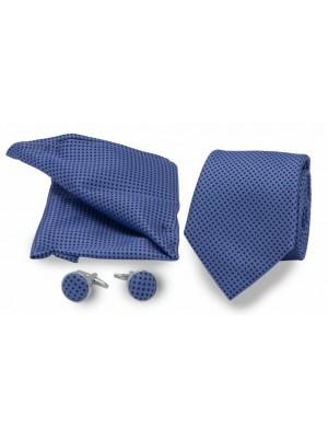 gents Accessoires Sets Set stropd manch poch lichtblauw met stip 0010