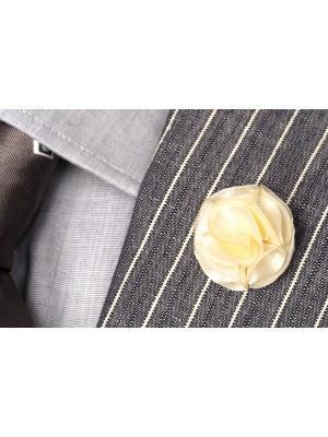 Lapel pin creme Webonly 0007| GENTS.nl | Hoogste kwaliteit voor de laagste prijs