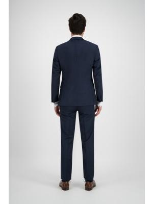 Mix & Match kostuum wol blauw 3-delig