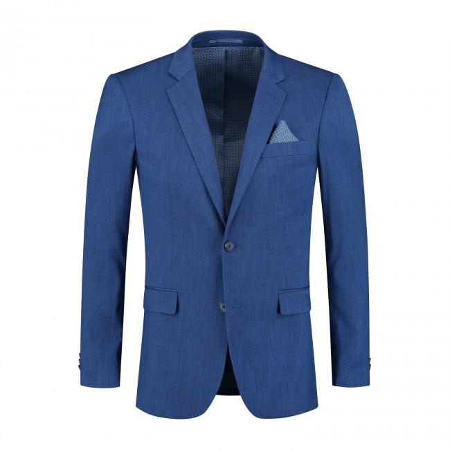 M&M pak linnenlook blauw 2-delig   GENTS.nl