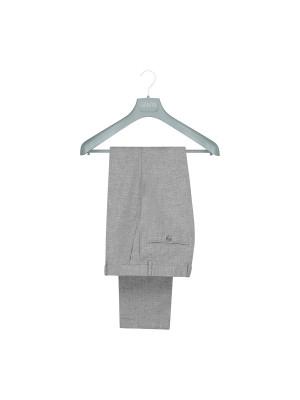 M&M pantalon linnenlook grijs 0019