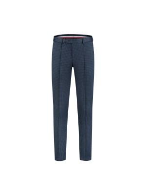 gents Pantalon MM M&M pantalon miniruit grijsblauw 0020