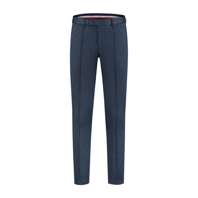 M&M pantalon miniruit grijsblauw 0020| GENTS.nl | Hoogste kwaliteit voor de laagste prijs