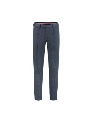 gents Pantalon MM M&M pantalon pied-de-poule blauw 0021