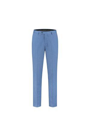 gents Pantalon MM Pantalon linnenlook staalblauw 0023