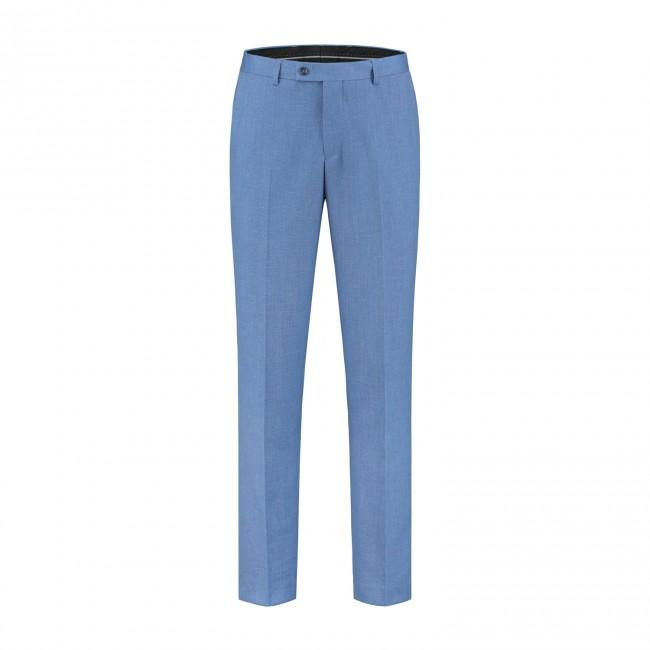 Pantalon linnenlook staalblauw 0023| GENTS.nl | Hoogste kwaliteit voor de laagste prijs
