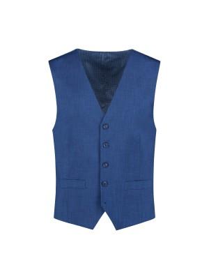 Gilet linnenlook blauw 0009| GENTS.nl | Hoogste kwaliteit voor de laagste prijs
