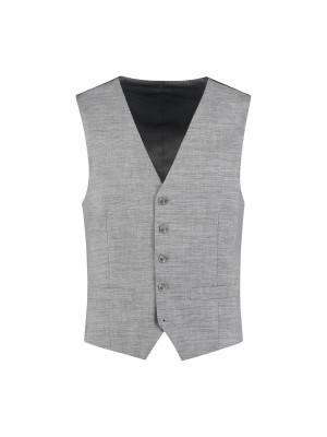 M&M gilet linnenlook grijs 0010  GENTS.nl   Hoogste kwaliteit voor de laagste prijs
