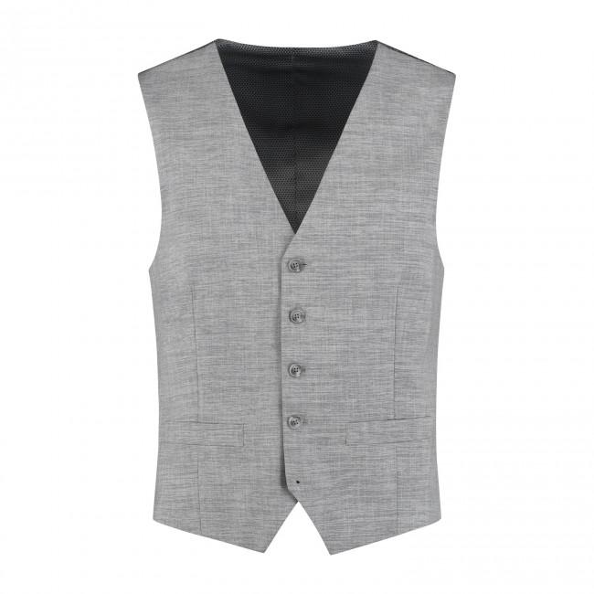 M&M gilet linnenlook grijs 0010| GENTS.nl | Hoogste kwaliteit voor de laagste prijs