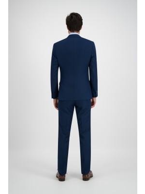 Mix & Match poly-viscose royal blue kostuum - 2 delig - slimfit getailleerd