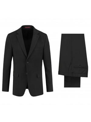 M&M kostuum poly-wol zwart 2-delig
