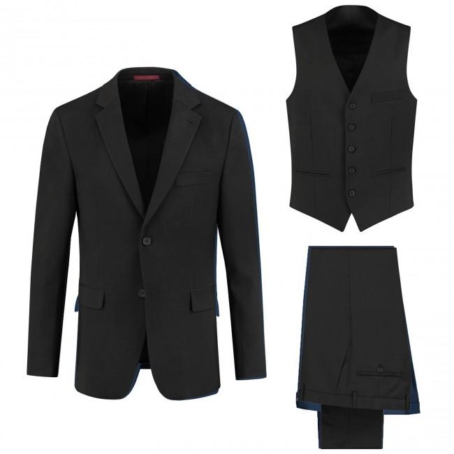 Pak polywol zwart 3-delig 0002| GENTS.nl | Hoogste kwaliteit voor de laagste prijs