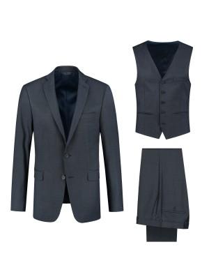 gents MM compleet Pak wol blauw 3-delig 0013