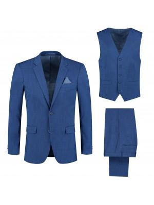 Pakken M&M pak linnenlook blauw 3-delig